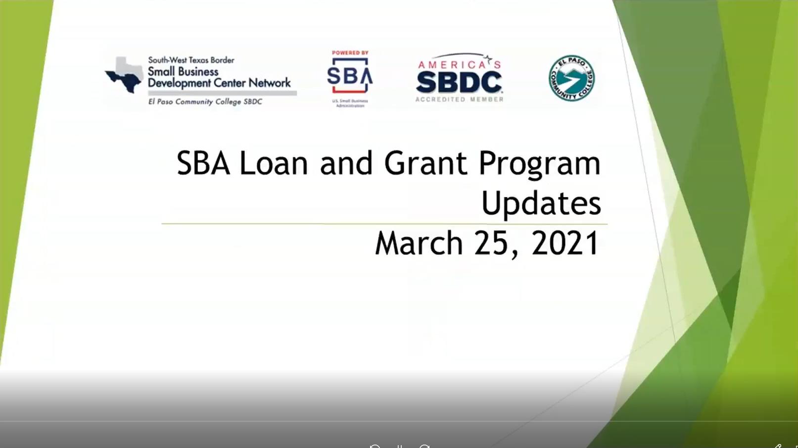 PPP-EIDL-SBA Loan UPDATES-20210325