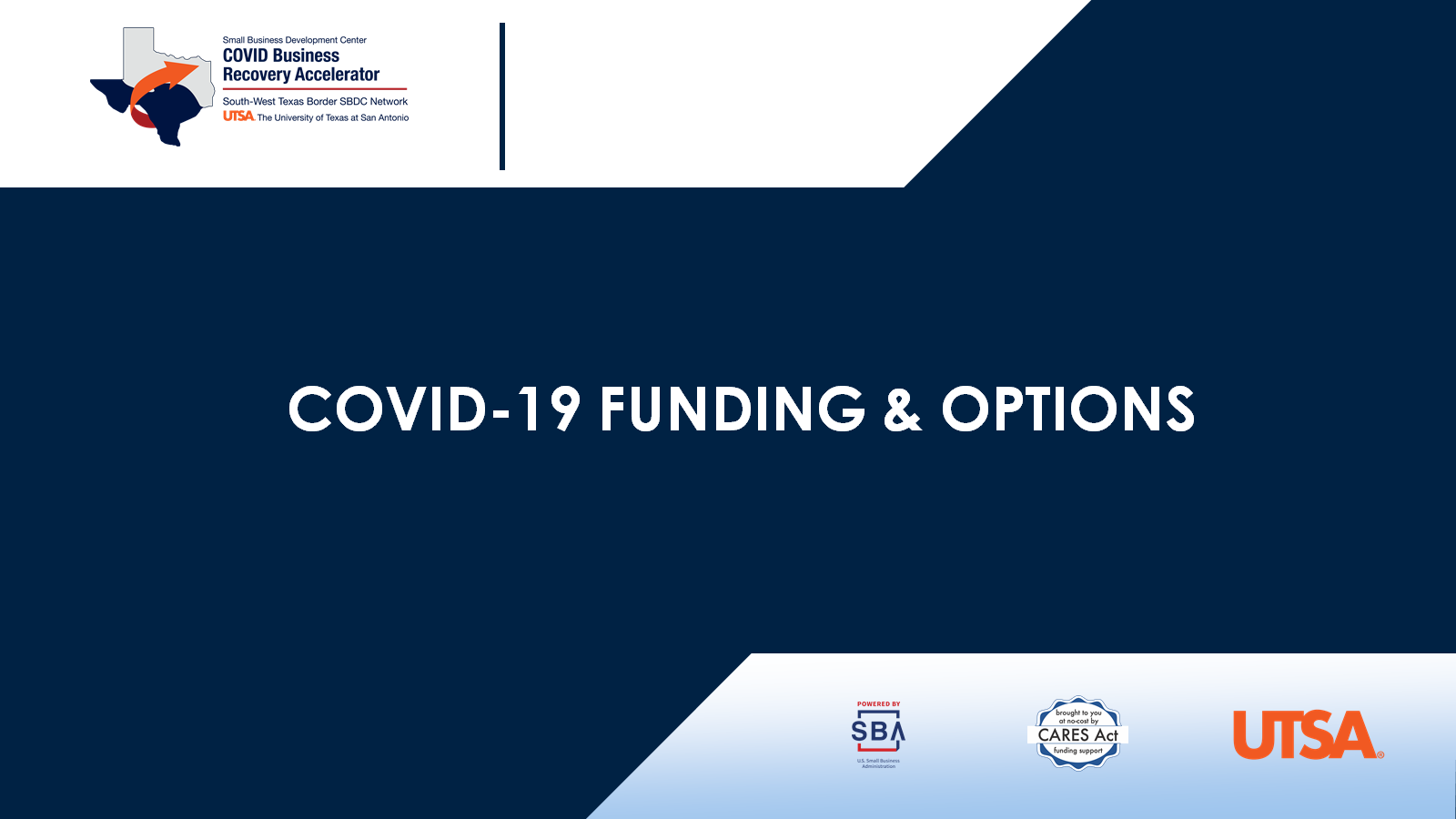 COVID-19 Funding and Options