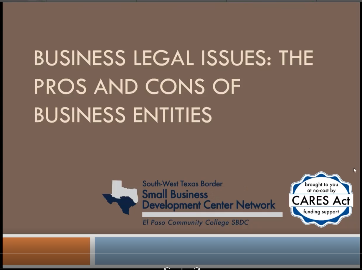 Business Legal Issues-The Pros and Cons of Business Entities-20210831