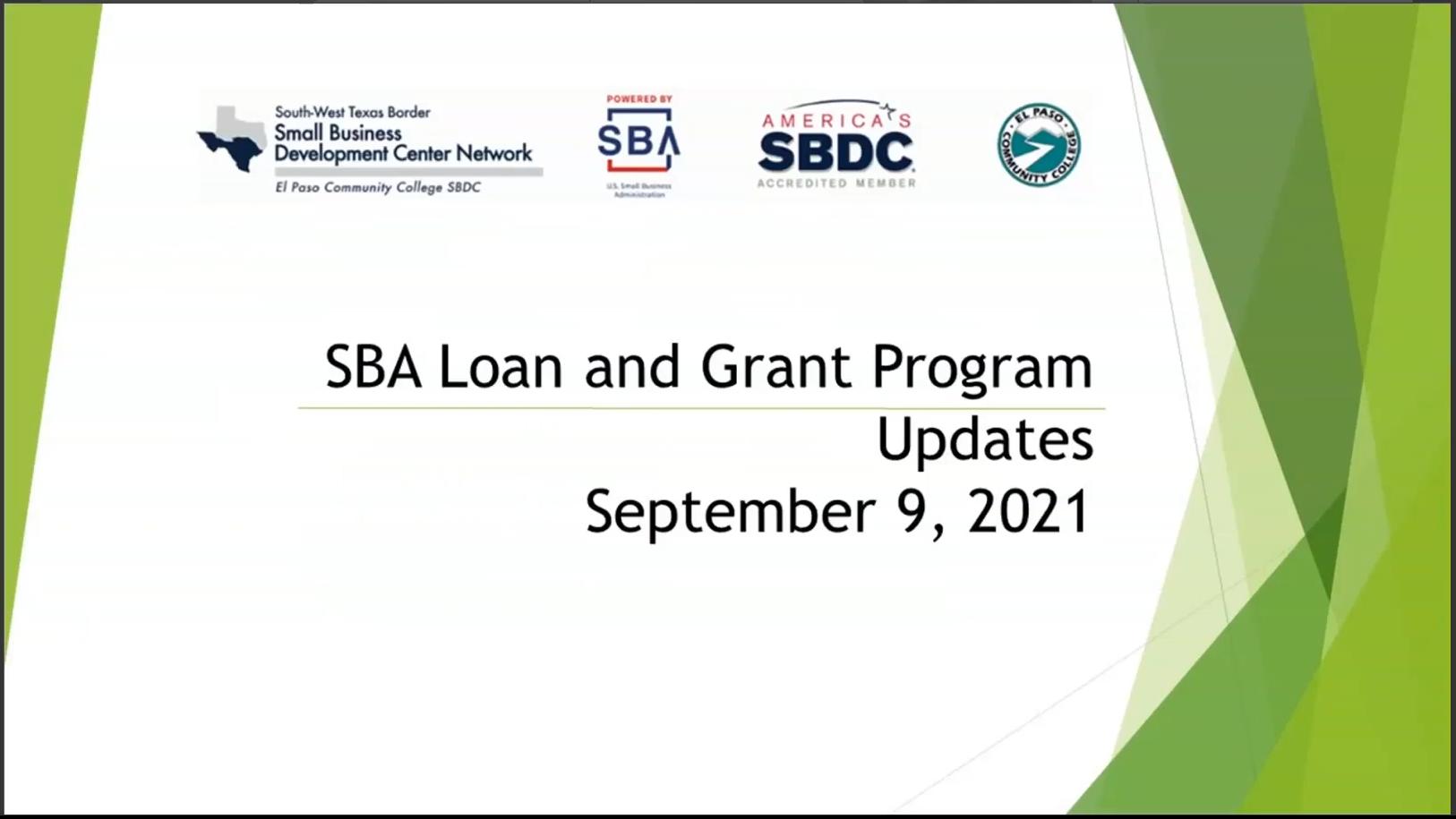 PPP-EIDL-SBA Loan Updates-20210909